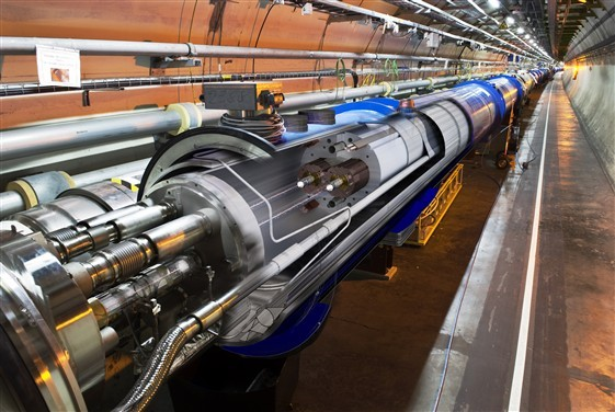 3d view photo of the LHC Machine. (Photo: © 2009 CERN)