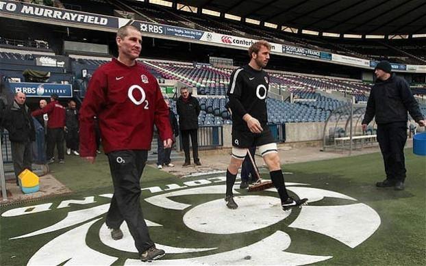 Stuart Lancaster and Chris Robshaw