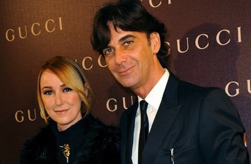 Frida Giannini and Patrizio di Marco
