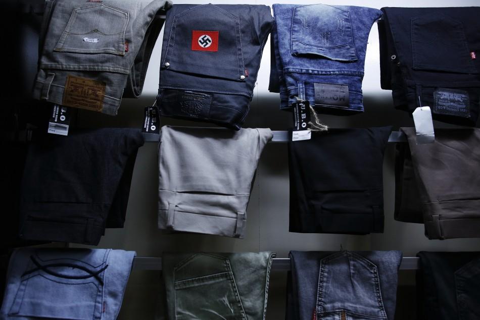 Stitch on: Swastika on jeans