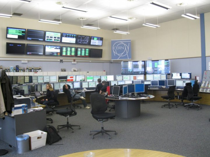 The LHC Control Centre (Photo: Lianna Brinded)
