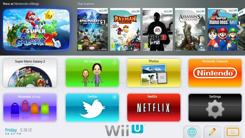 Wii U store
