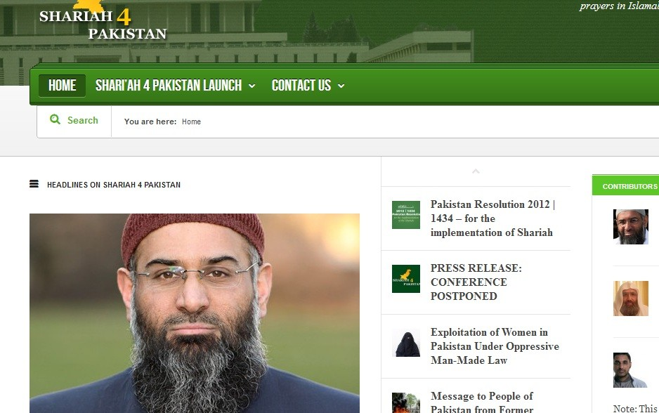 Anjem Choudary on group's website