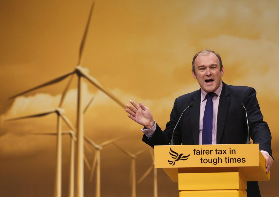 Britain's Secretary of State for Energy and Climate Change Davey