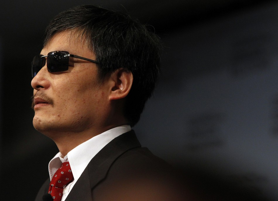 Blind activist Chen Guangcheng is pictured at the Council on Foreign Relations in New York