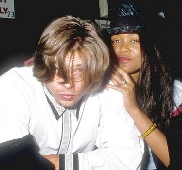 Brad Pitt and Robin Givens