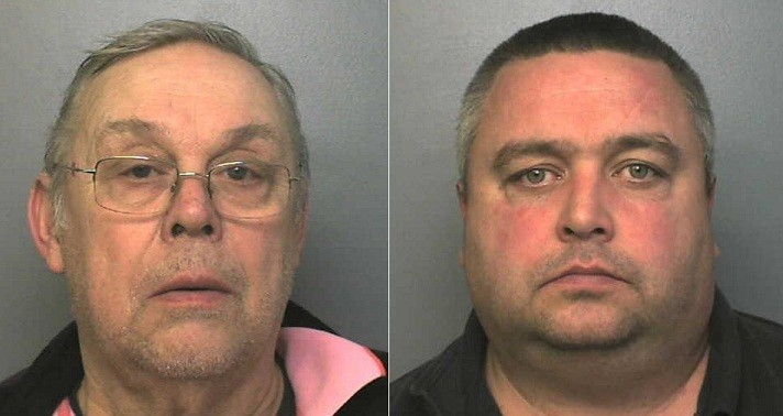 Drugs bust: (l-r) Rodney Goodyer and Vincent Hayward