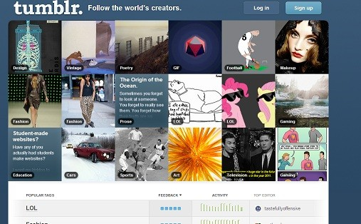 Tumblr t is home to 83.2 million blogs that attract about 18.2 billion page views monthly
