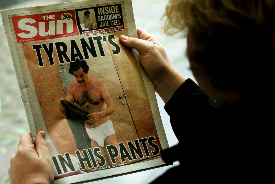 The photo was published in May 2005 editions of the  The Sun and New York Post (Reuters)