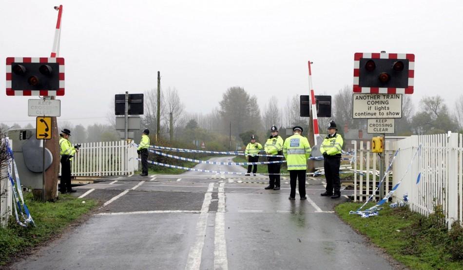 Crash scene at Mission Springs, Notts