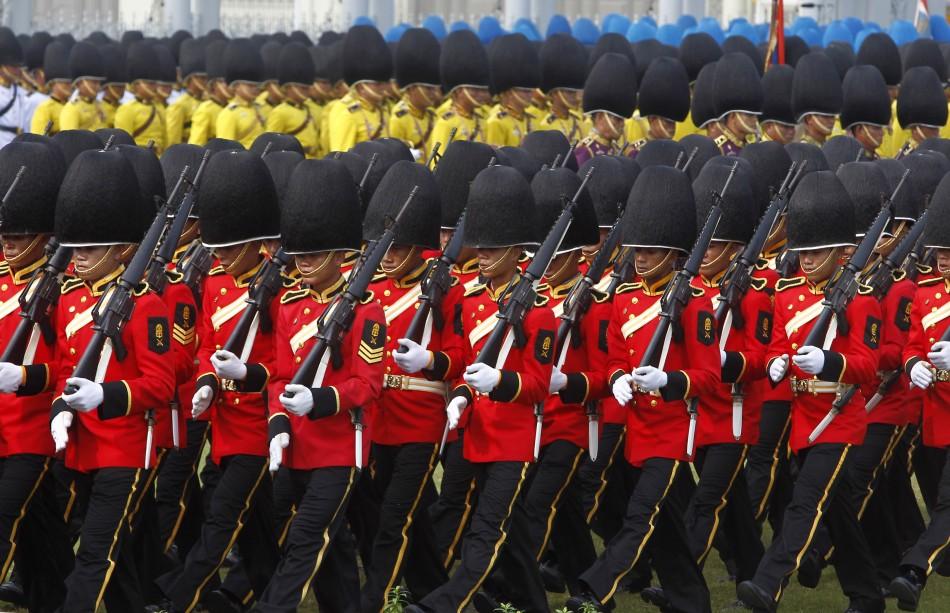 Thai royal guards