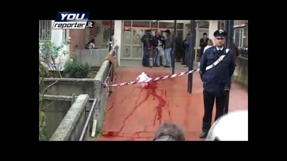 The murder scene
