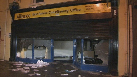 The offices of Alliance MLA Stewart Dickson in Carrickfergus, Co Antrim. (UTV)
