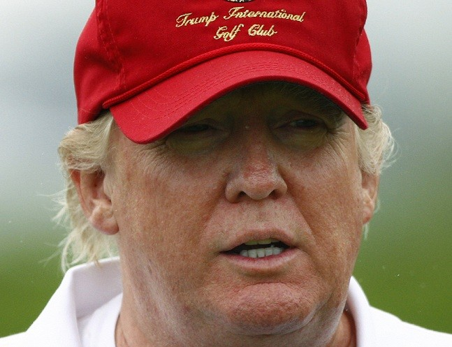 Donald Trump on his golf course