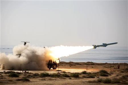 Iran rockets and US warship