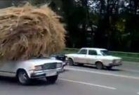 Lada with haystack