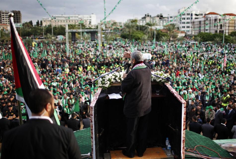 Hamas anniversary rally at Gaza