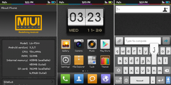 Upgrade LG Optimus One P500 to Android 2.3.7 via P-MIUI ROM [Guide]