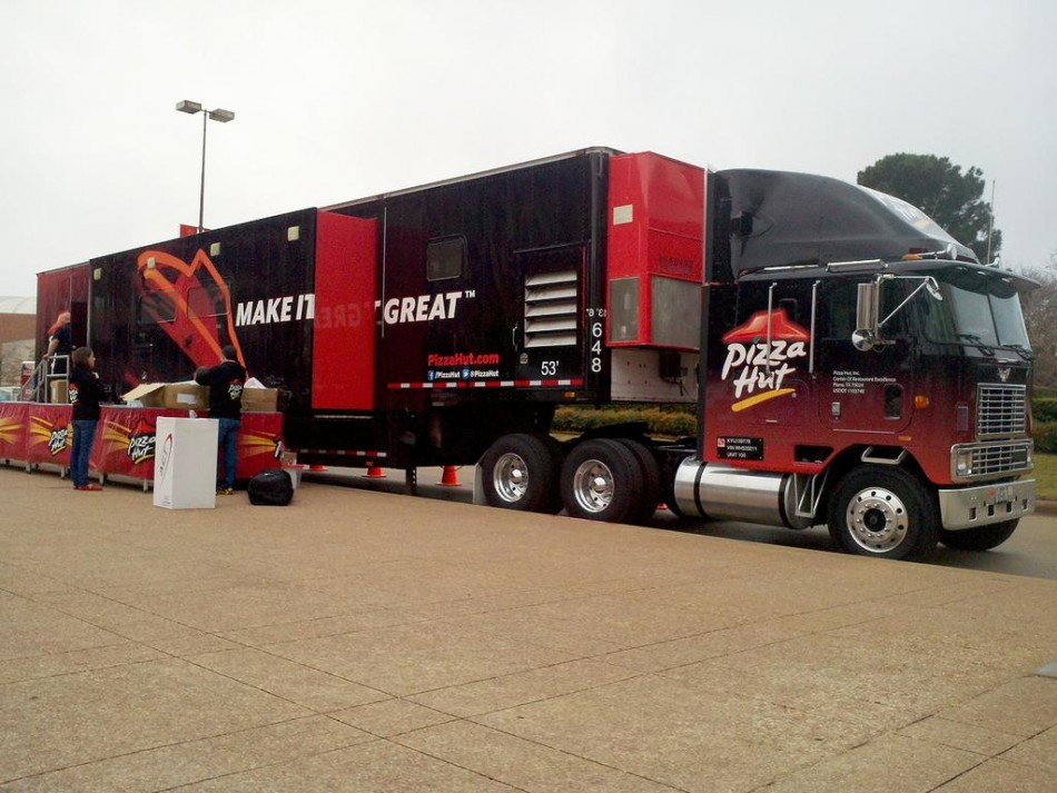A Pizza Hut delivery vehicle