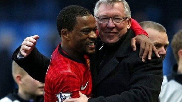 Patrice Evra and Sir Alex Ferguson