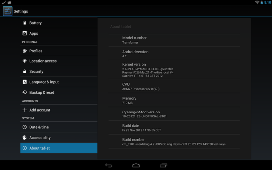 Install CM10.1 Android 4.2.1 ROM on ASUS Eee Pad Transformer [Guide]