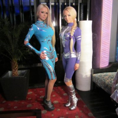 Human Barbie Valeria Lukyanova and Friend Dominica