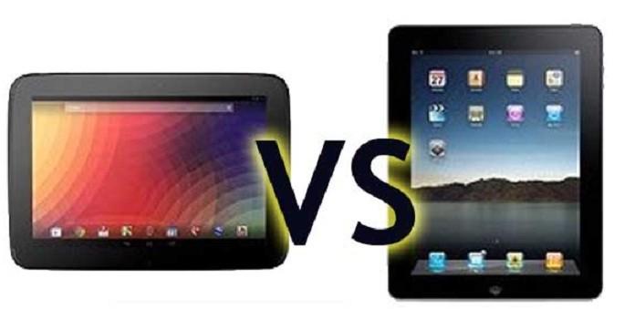 iPad 4 Vs Nexus 10