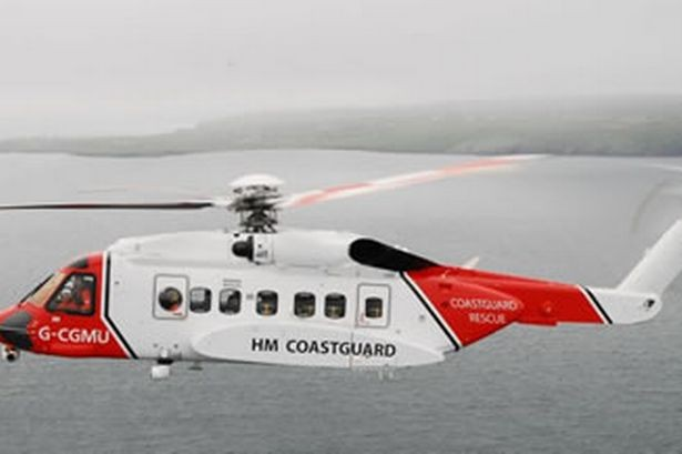 The helicopter landed at Lerwick hospital at 6.40am where family were transferred into the care of medical staff (MCA)