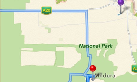 Buggy Apple Maps Lands Australian Motorists in National Park, 40 Miles off City
