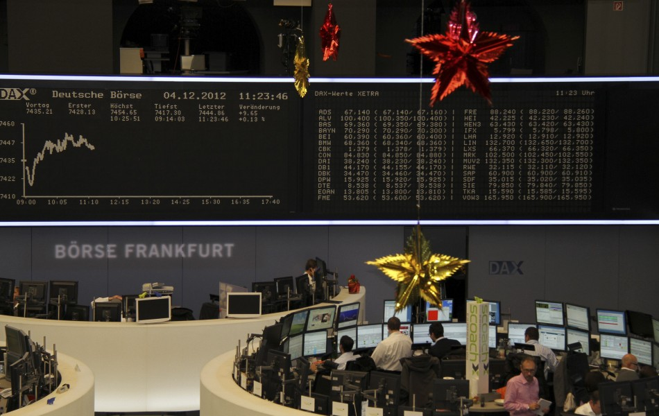 European stocks gain as traders wait for the Fed's meeting to conclude.