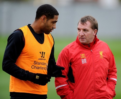 Glen Johnson (L) and Brendan Rodgers