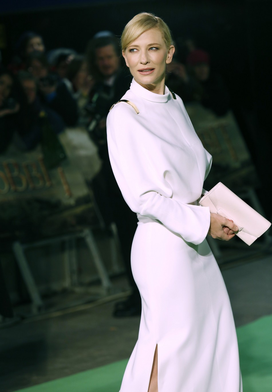 Actress Cate Blanchett arrives for the royal premiere of the film The Hobbit - An Unexpected Journey in central London