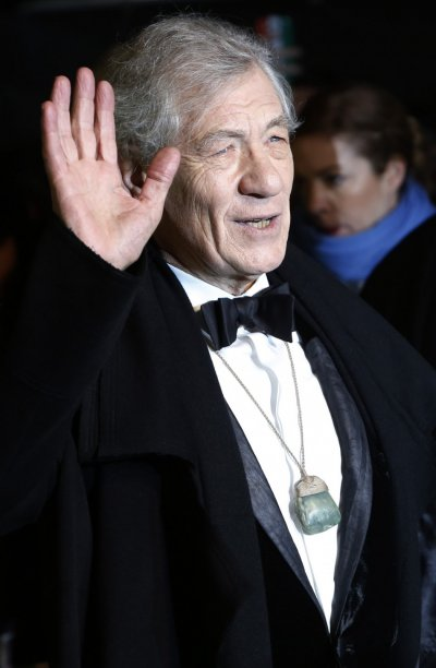 Actor Ian McKellen arrives for the royal premiere of the film The Hobbit - An Unexpected Journey in central London