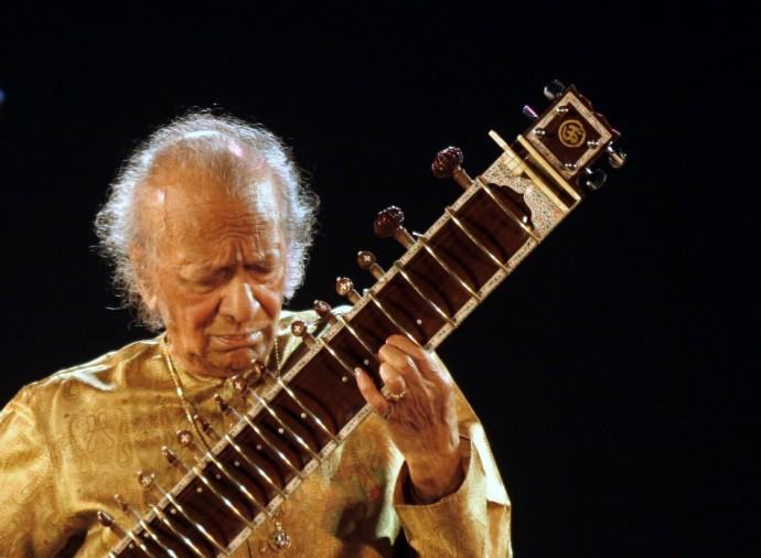 Indian sitar player Ravi Shankar performs in the eastern Indian city of Kolkata