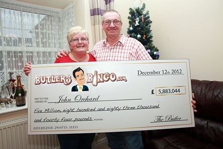 John Orchard and wife Linda (Butlers Bingo)