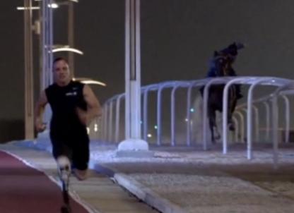 Strength and Power: Oscar takes on Arab horse