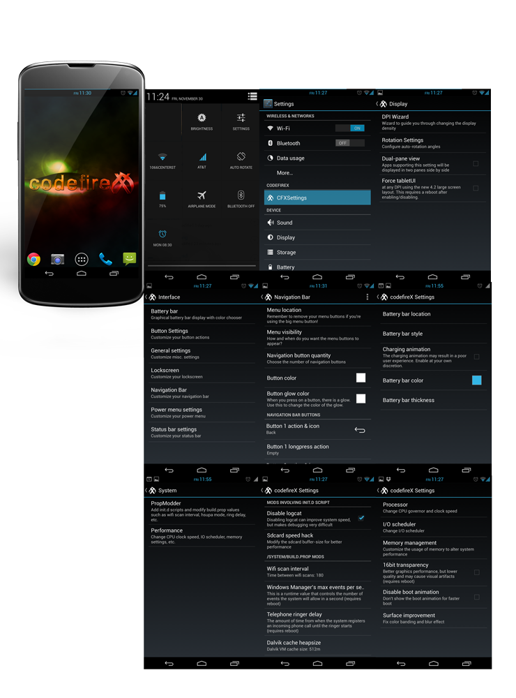 Nexus 4 E960 Gets New Jelly Bean Features with CodefireX ROM [How to Install]