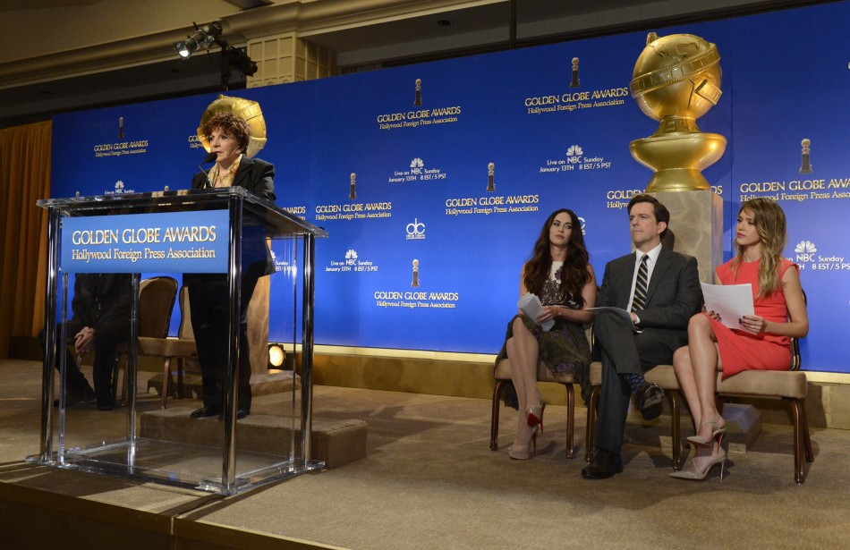 Hollywood Foreign Press Association President Takla-OReilly, Actress Fox, Actor Helms and Actress Alba announce nominations in Beverly Hills