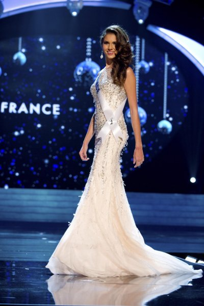 Miss France 2012 Payet competes in an evening gown of her choice during the Evening Gown Competition of the 2012 Miss Universe Presentation Show in Las Vegas