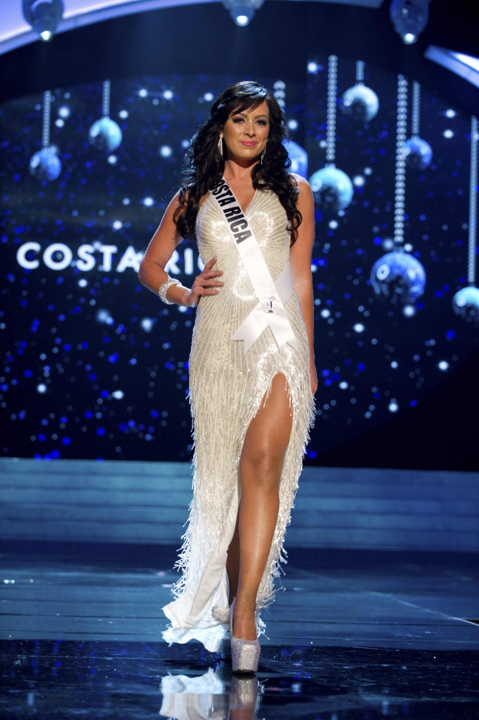 Miss Costa Rica 2012 Cascante competes during the 2012 Miss Universe Presentation Show in Las Vegas