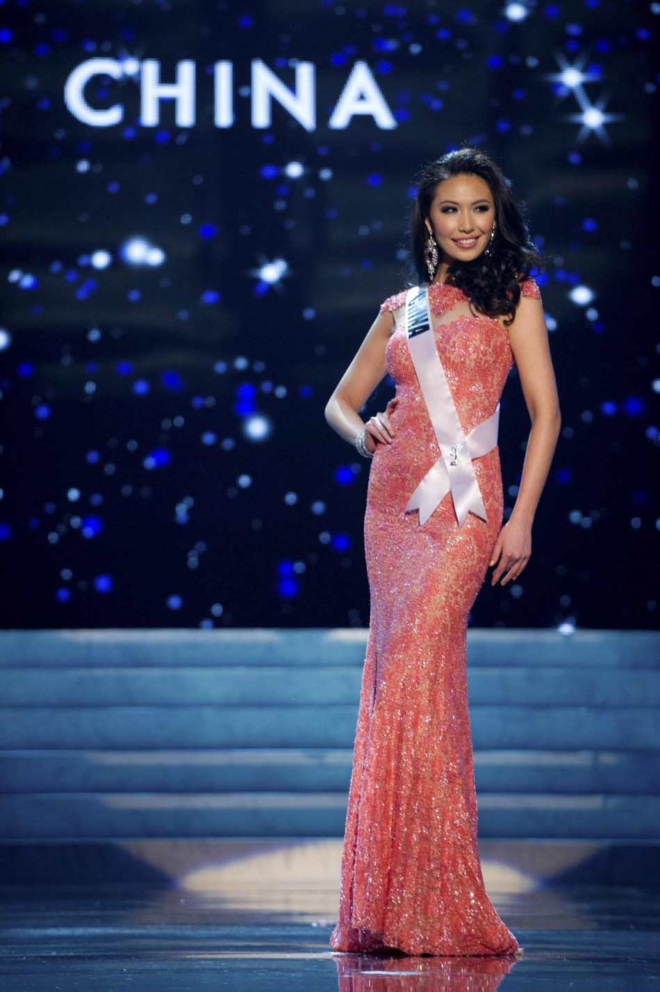 Miss China 2012 Ji Dan Xu competes during 2012 Miss Universe Presentation Show in Las Vegas