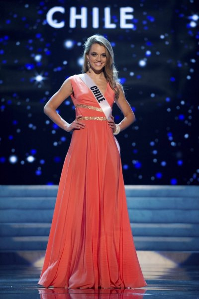 Miss Chile 2012 Konig competes during the 2012 Miss Universe Presentation Show in Las Vegas