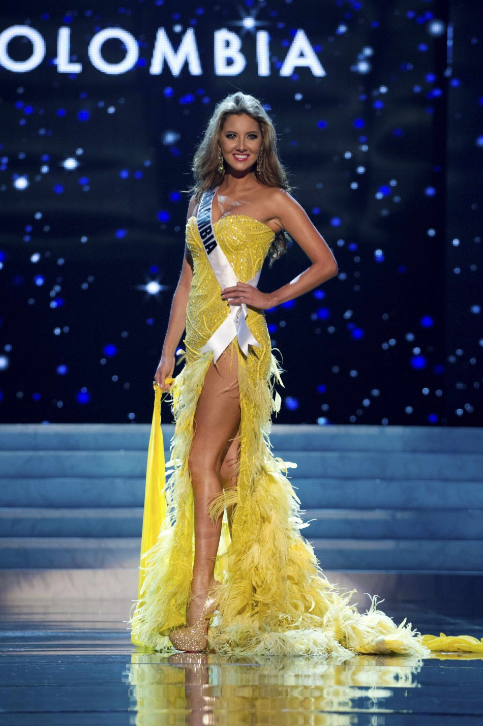 Miss Colombia 2012 Vasquez competes during the 2012 Miss Universe Presentation Show in Las Vegas