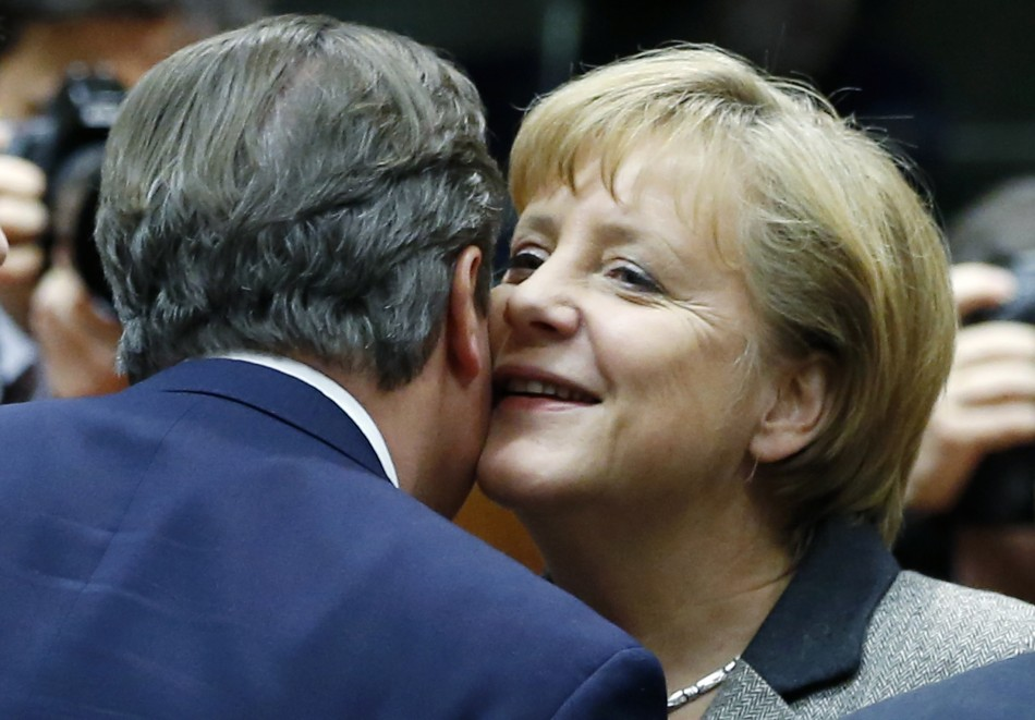 David Cameron Angela Merkel