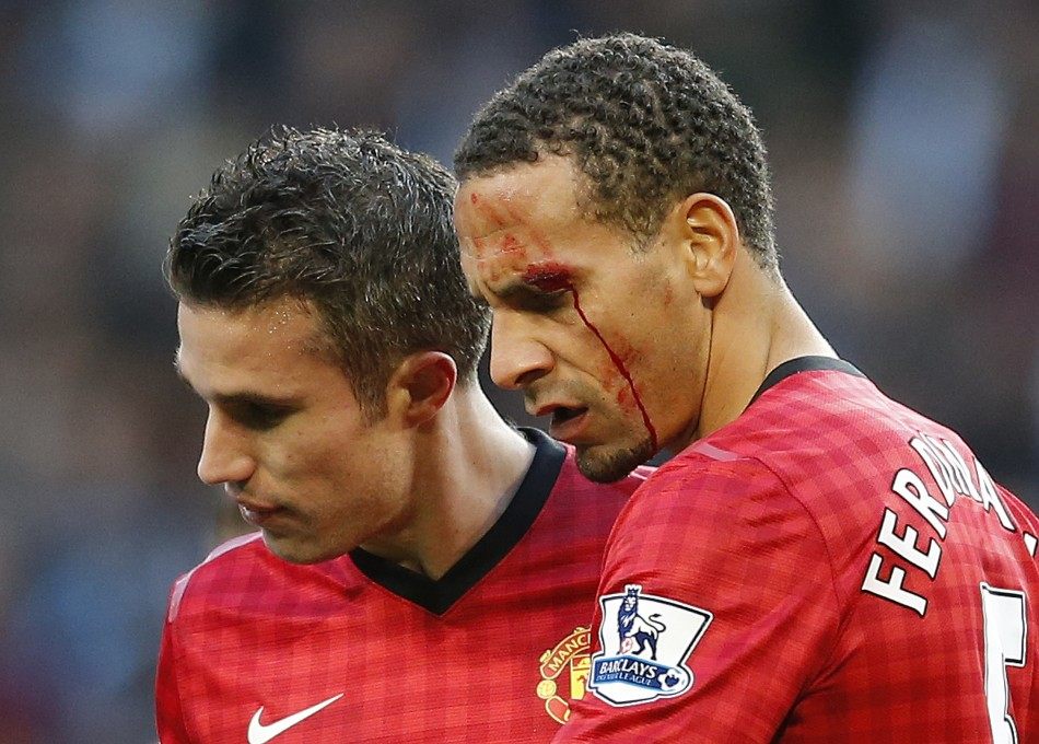 Rio Ferdinand was struck by coin hurled from crowd during Manchester derby