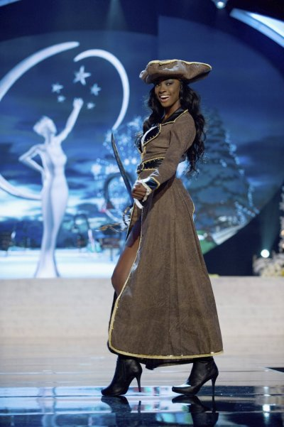Miss Bahamas Celeste Marshall on stage at the 2012 Miss Universe National Costume Show at PH Live in Las Vegas