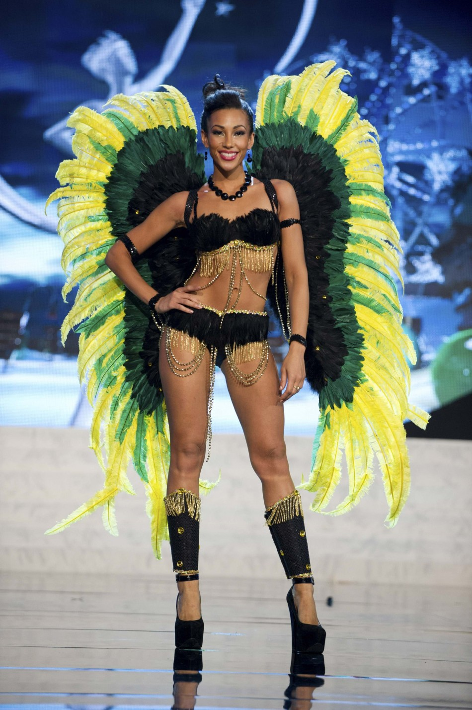 Miss Jamaica Chantal Zaky on stage at the 2012 Miss Universe National Costume Show at PH Live in Las Vegas