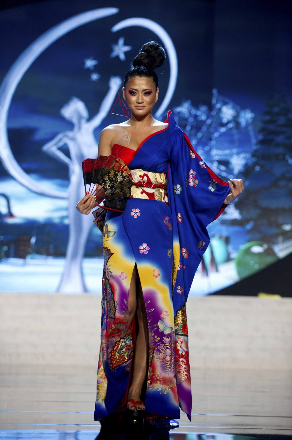 Miss Japan Ayako Hara on stage at the 2012 Miss Universe National Costume Show at PH Live in Las Vegas