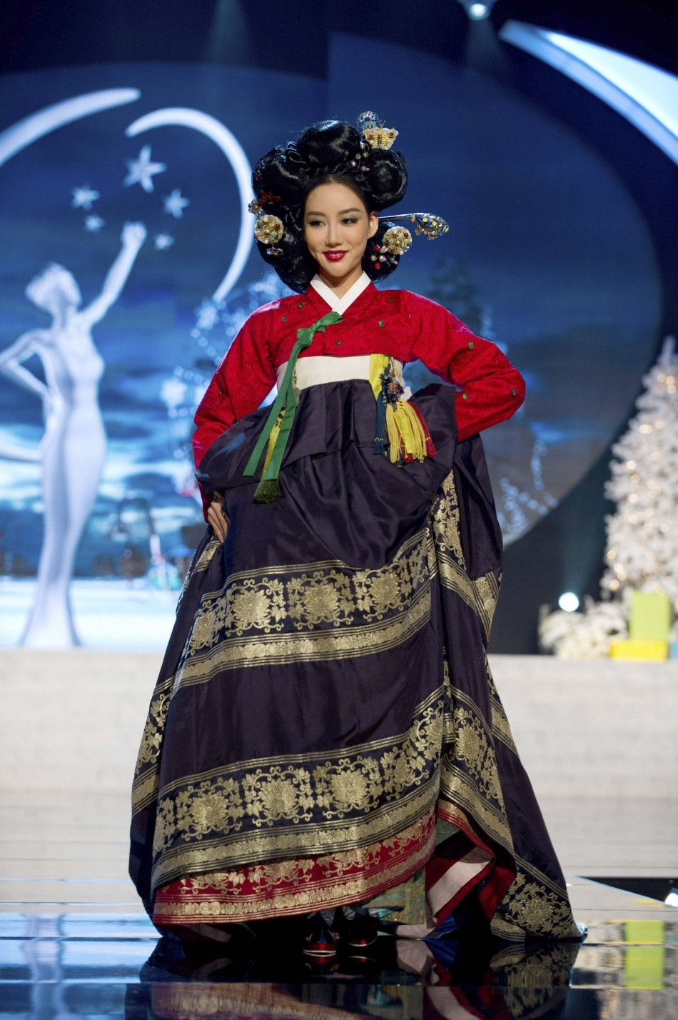 Miss Korea Sung-hye Lee on stage at the 2012 Miss Universe National Costume Show at PH Live in Las Vegas