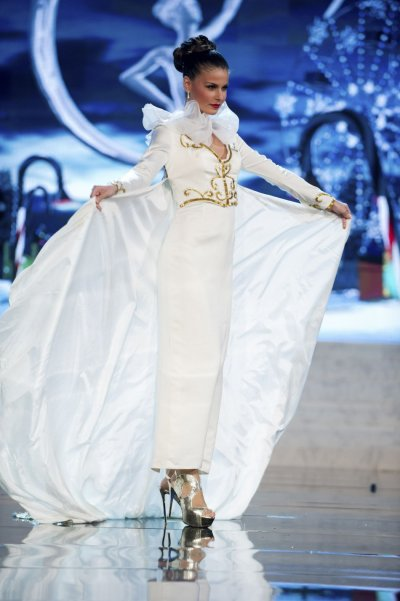 Miss Greece Vasiliki Tsirogianni on stage at the 2012 Miss Universe National Costume Show at PH Live in Las Vegas